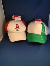 Lot Of 2 BEIJING CHINA 2008 OLYMPICS Baseball Cap/Hat NWT Adjustable Back
