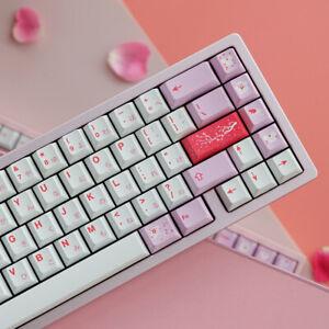 Pink Sakura PBT Keycaps 132 Keys Caps For MX Mechanical Keyborad Caps