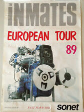 AFFICHE POSTER VINTAGE THE INMATES EUROPEAN TOUR 89 FAST FORWARD // 40 X 60