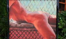 Original peinture à l'Huile Nu Féminin Femme Body pinup érotique fine art pop girl