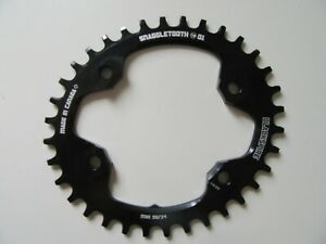 Blackspire 34 tooth Oval Narrow Wide chainring M8000 34t 96mm BCD NEW (3330)