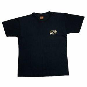 Vintage STAR WARS (1999) Episode 1 The Phantom Menace Promo T-Shirt Medium Black