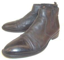 Carlo Pazolini Mens Boots Ankle EU 44 Black Leather Zip-Up Chelsea Cap Toe Shoes