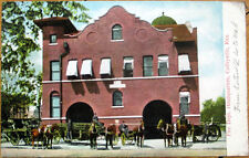 1910 Postcard: Fire Station/Depot Headquarters - Coffeyville, Kansas KS
