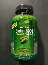 Irwin Naturals biotina - 6000 cabello y uñas fuerza y protección 60 líquido..