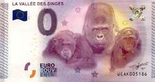 86 ROMAGNE La Vallée des Singes, 2015, Billet 0 Euro Souvenir