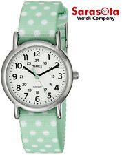 Timex TW2P65500 Weekender White Dial Dotted Strap Stainless Steel Women's Watch