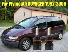 LED For Plymouth VOYAGER 1992-2000 Headlight Kit 9007 HB5 White Bulbs HI-LO Beam