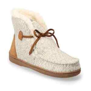 Women's Indoor/Outdoor memory Foam Fur Sweater Knit Boot - Women's 5/6 Small