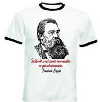 Friedrich Engels Necessaire - BLACK RINGER COTTON TSHIRT