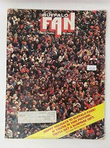 Buffalo Fan Magazine Holiday Issue 1976 jimmy Slattery Buffalo Bills Braves