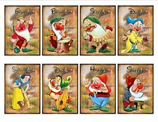Snow White & Dwarfs Glossy Finish Card Topper - Crafts Embellishment