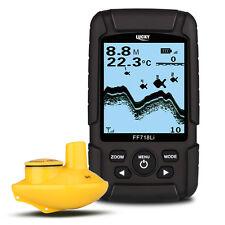 LUCKY 2.5inch LCD 45m Fish Finder Wireless Sonar 90° Sensor Beam Angle Backlight