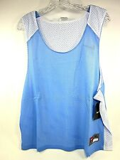 NIKE, LAX LACROSSE REVERSIBLE MESH TANK MEN'S LIGHT BLUE/ WHITE SIZE L/XL NEW