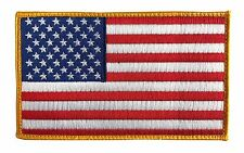 "Large 5"" X 3"" US American Flag Patch (Standard) Hook and Look Backing - ODA, SF"