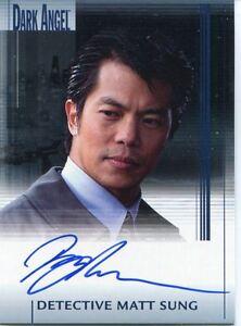 Dark Angel Premiere Autograph Card Byron Mann As Detective Matt Sung