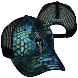 Kryptek Spartan Mesh Back Camo Cap- Kryptek Neptune/Black