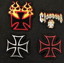 CROSS PATCH CHOPPERS EMBROIDERY BIKER PATCH--017