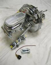 "GM 9"" Chrome Power Brake Booster + 1"" Milled Master Cylinder Disc Disc Kit GTO"