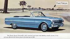 Old Print. Blue 1963 Ford Falcon Futura Sports Convertible Auto Ad