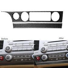 For Honda Civic 8th Gen 2006 11 Carbon Fiber Interior Ac Switch Panel Frame Trim Fits 2006 Civic