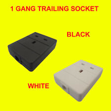 Trailing Single Electrical UK Mains Extension Socket Rewireable 1 Gang 13A Fuse