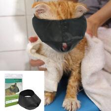 Black Cat Grooming Muzzle Adjustable Quick Fit Nylon Pet Breathable Anti Bite