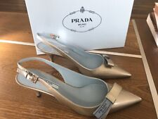 New PRADA women silver patent leather shoes size38 with box