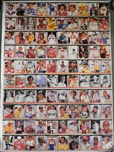 "PPG Indy Car World Series Un-Cut 35""x26"" Sheet Of 1992 Cards ""Andretti & Unser"""