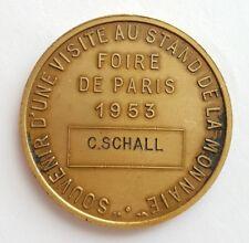 Médaille souvenir Stand de la Monnaie Ville de Paris 1953 (AV1557)