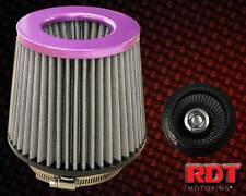 "Purple Air Intake Filter 4"" Inch Cone Style Performance CAI SRI Purple Housing"