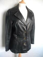 Unbranded Women's Leather Hip Length Button Coats & Jackets