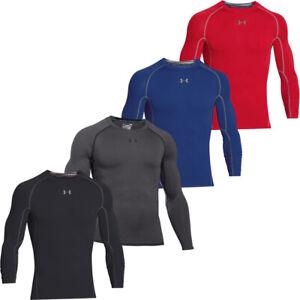Under Armour Mens HeatGear Long Sleeve Compression Shirt Slim Baselayer Tops