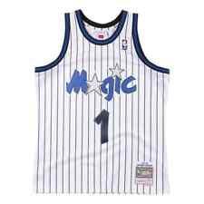 Mitchell & Ness NBA Orlando Magic #1 Hardaway White Pinstripe Swingman Jersey