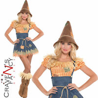 Ladies Sultry Scarecrow Costume Adult Fancy Dress Wizard of Oz Outfit UK 8-20