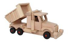 LKW Sandlaster aus Holz Auto Kipper Sandkasten Laster Spielzeug für Kinder Neu