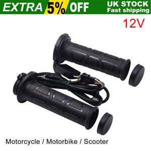 Motorcycle Heated Grips 12V 22mm 7/8'' Adjustable Hot Handbar Motorbike Scooter