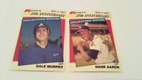 BRAVES Glossy 1987 Topps Superstars of Baseball Dale Murphy and Hank Aaron