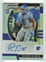 Patrick Taylor Jr 2020 Panini Prizm Draft Picks SILVER AUTO RC #247 Tigers