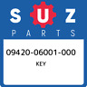 09420-06001-000 Suzuki Key 0942006001000, New Genuine OEM Part