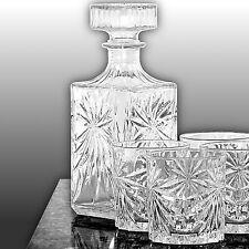 Whiskey Set [350ml große Whiskygläser ] & Whisky Dekanter Whiskyset Glas Karaffe