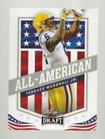 2021 LEAF DRAFT FOOTBALL ROOKIE ALL-AMERICAN TERRACE MARSHALL JR. #40 RC