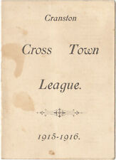 Cranston R. I. Cross Town League 1915-1916 Basketball Schedule Very Rare Item