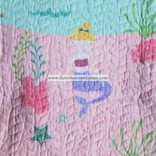Mermaid 7 Piece Twin Quilt Mermaids Sheets ~ Throw Pillows ~ New 100% Cotton