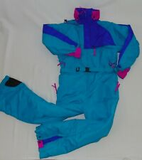 Columbia Vintage Women's Ski Suit Belted With Hood Very Nice Size Large