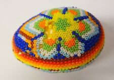 Vintage Seed Beads Hand Decorated Easter Egg Only 1 of Kind