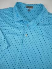 Mens XL Peter Millar Summer Comfort blue shark fin golf polo shirt