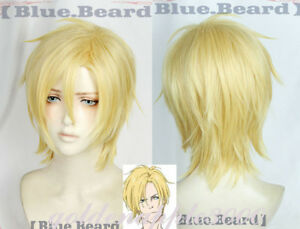 BANANA FISH Ash Lynx Short Blonde Costume Cosplay Wig Party Wigs