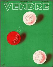 ▬►MARKETING PUBLICITÉ  -- VENDRE N° 190 (SEPTEMBRE 1939) --  COVER RENÉ RAVO
