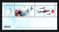 Canadian MILITARY AIR FORCES Souvenir  Sheet of 2 stamps Canada 2006 #2159b MNH